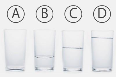 【心理テスト】コップの水量は? 答えでわかる自己愛レベル