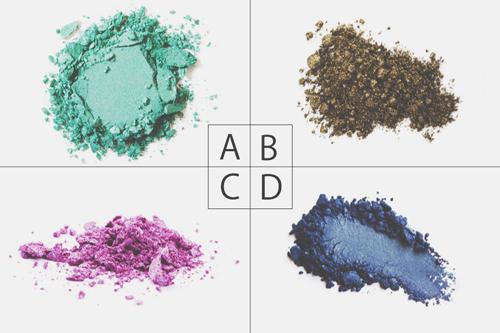 【心理テスト】4色のアイシャドー、似合う色でわかる、あなたの魅力とその活かし方