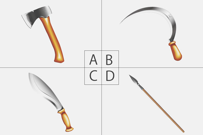 【心理テスト】選んだ武器でわかる、あなたが守るべきもの