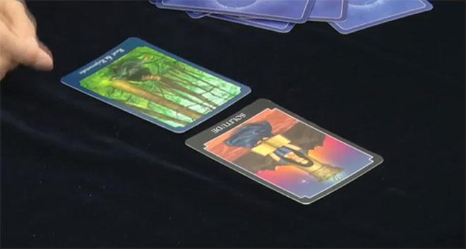 引いたカードは2枚とも、人物が1人だけ描かれたカード