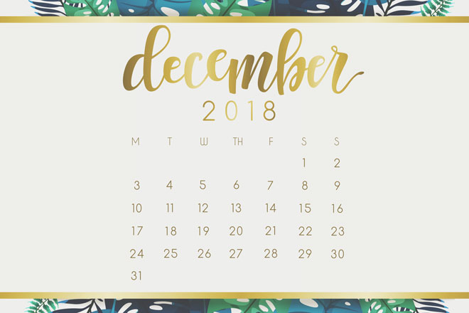 【12月の開運カレンダー】2018年最後の大吉日は12月3日と7日、金運アップ&目標達成運吉!