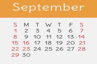 【9月の開運カレンダー】9月24日は金運が高まる日、開運旅行にもオススメの吉日!