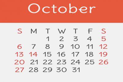 【10月の開運カレンダー】10/8は金運良好!