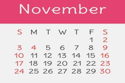 【11月の開運カレンダー】11/20は再構築するのにぴったりの日!