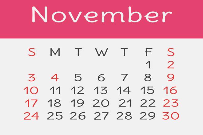 【11月の開運カレンダー】11月20日は不要なものを捨て、再構築するのにぴったりの日!