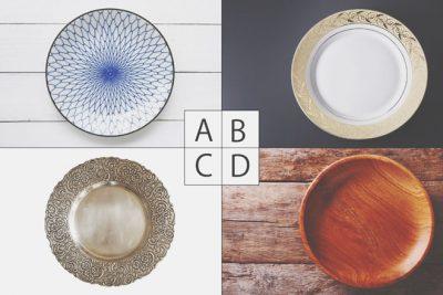【心理テスト】大皿を買うならどれいい? 答えでわかる、あなたの人付き合いの癖
