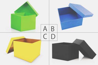 【心理テスト】選んだ箱でわかるあなたの悩み解決法