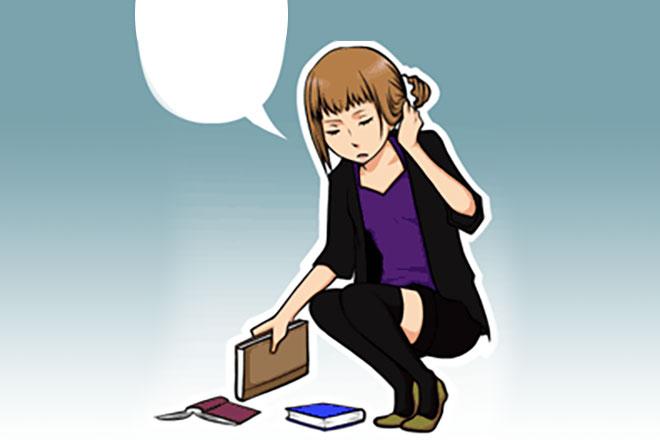 【心理テスト】本を拾いながら何とつぶやいた? 答えでわかる、あなたの上流階級度